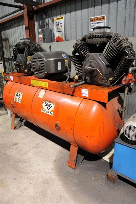 devilbiss model vax 5080 25 hp v air compressor serial number 15845bb