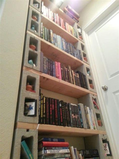 Diy Cinder Block Bookshelf It Only Costs 40 Bucks To Block Bookshelves