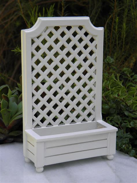 miniature dollhouse fairy garden accessories white wood