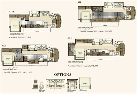 rv plans fleetwood motorhome floor plans home review