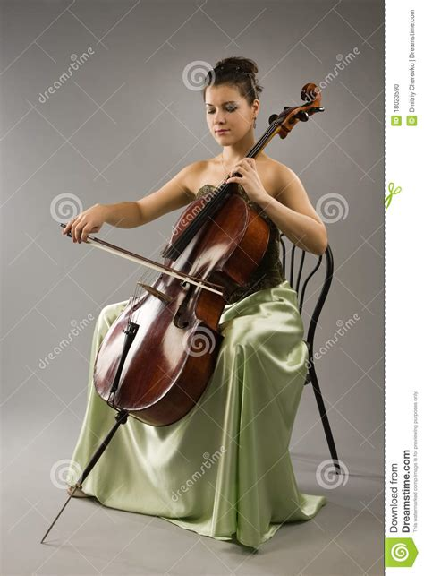 woman playing cello stock photo image  instrumentalist