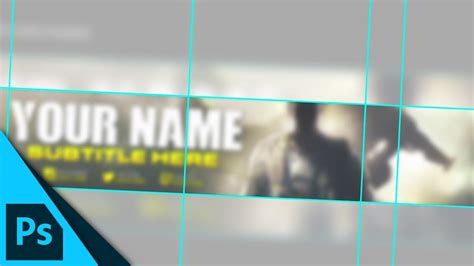 youtube banner layout guide template  photoshop tutorial youtube