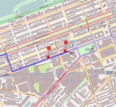 boston marathon route map anschlag auf den boston marathon