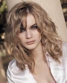 hair cuts for slightly wavy hair medium curly hairstyles 2016
