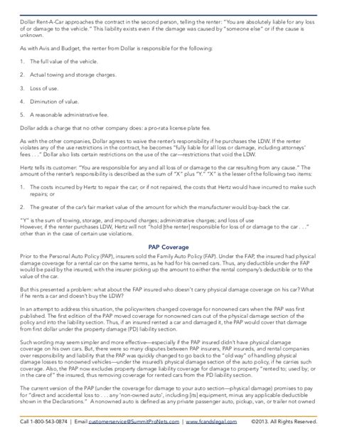 Rental Cars The Pap And The Loss Damage Waiver Pro Rata Rights Agreement Template