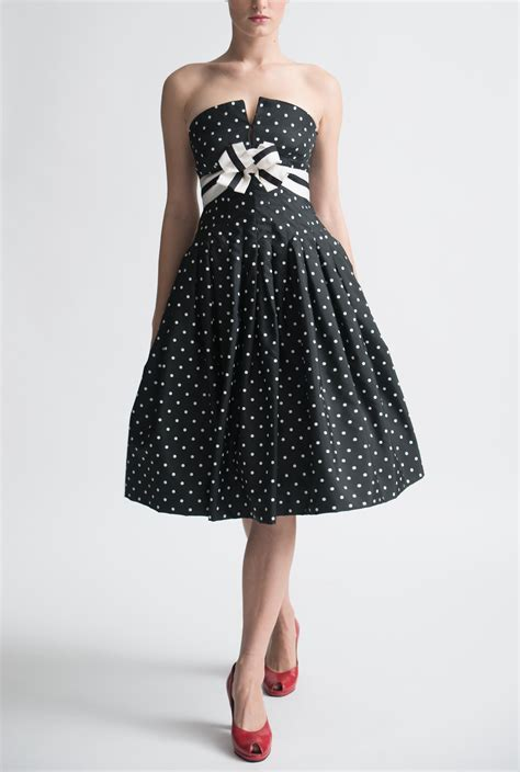 Black And White Vintage Dress vintage archive black and white cocktail dress