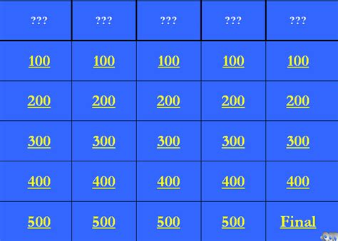 blank jeopardy template for powerpoint metlic info