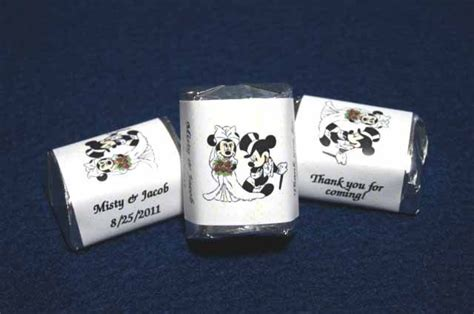 personalized mickey mouse wedding favors image detail for 120 mickey minnie mouse wedding nugget