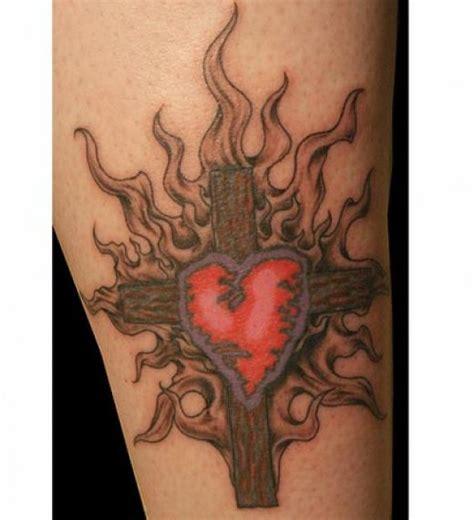 heartbeat tattoo with cross heart cross tattoos