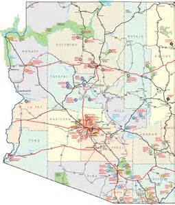 of arizona map the new deal in arizona