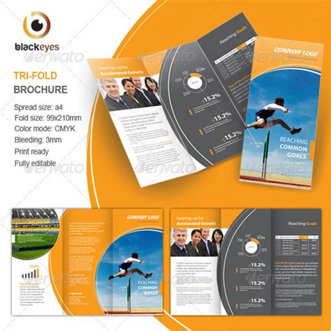 corel draw templates for brochures creative tri fold brochure design templates