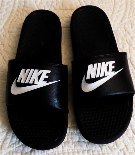 nike slide slippers nike swoosh nike benassi swoosh slide black summer sandals