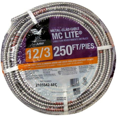 100 12 2 mc cable afc cable systems 12 3 x 250 ft solid mc lite cable