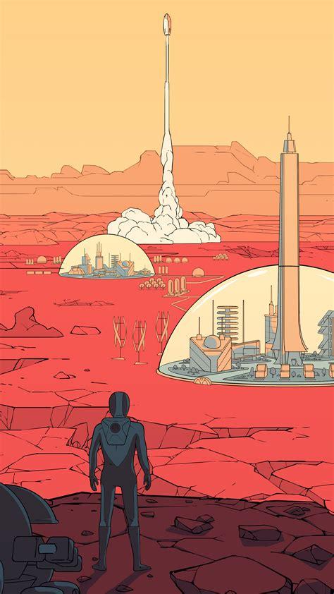 wallpaper surviving mars poster  games