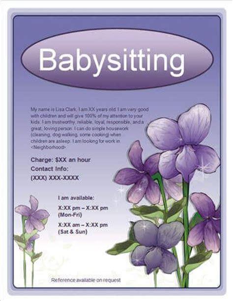 babysitting flyer work pinterest make your own flyer template rc