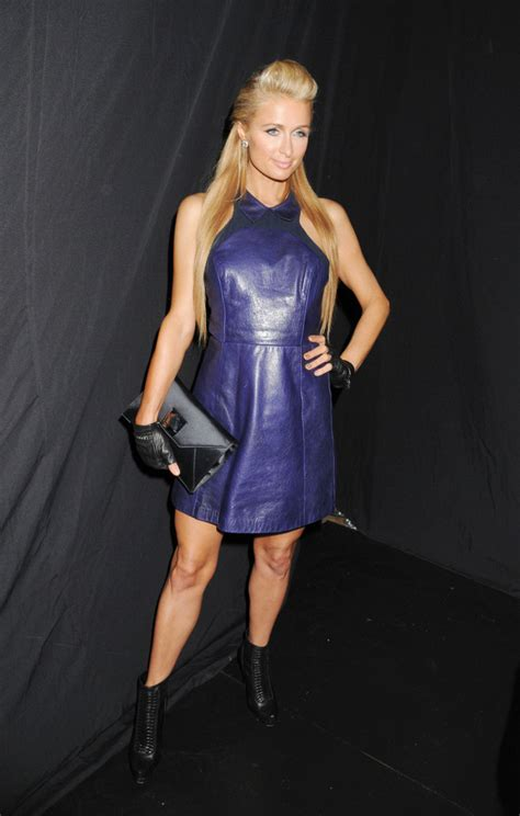 Frock Horror Of The Week Hiltons Chemise Wearing Lunch Date by Leather Dress Dresses Skirts Lookbook