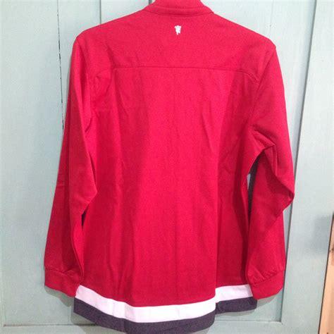 jual adidas manchester united anthem jacket size l jaket
