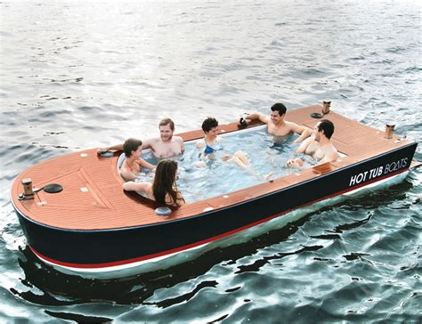 floating hot tub 42 000 hot tub boat floating jacuzzi with stereo system extravaganzi