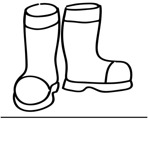 Boots Coloring Page free coloring pages of wellington boots