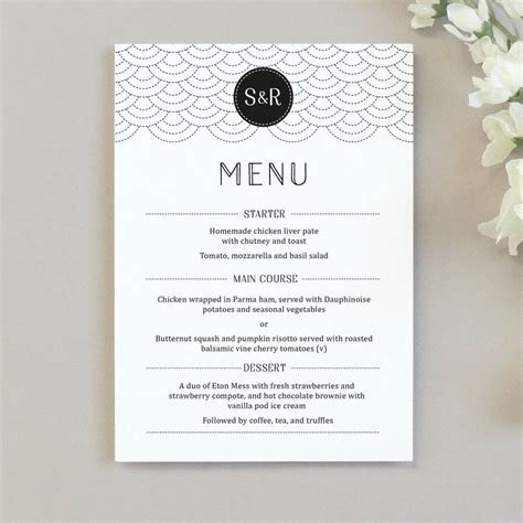 how to make wedding menu cards millie wedding menu cards by project pretty