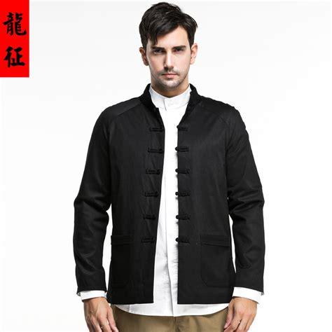imposing frog button modern jacket black
