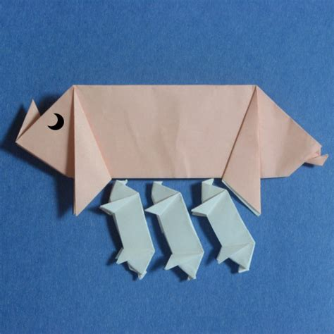 Simple Origami Pig - origami pig 187 how to origami easy origami at