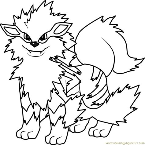 pokemon coloring pages arcanine arcanine pokemon coloring page free pok 233 mon coloring