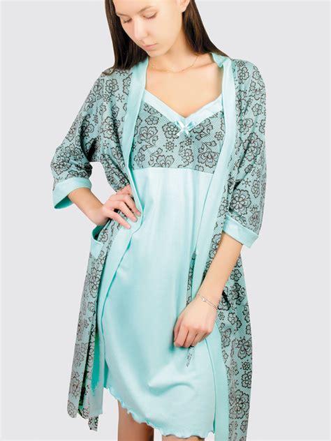 142735 Kimono Set Mint mint robe nightgown set product sku set 160316 160317