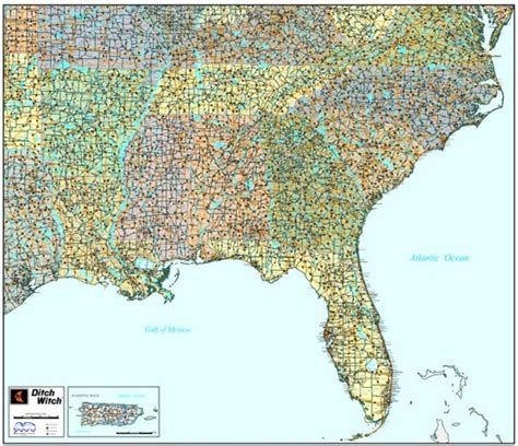 map of southeastern united states with cities wall map of southeast united states southeast market area map