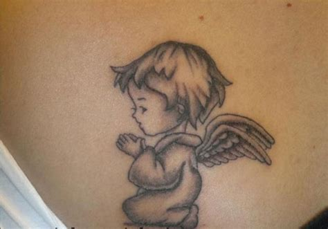kneeling angel tattoo designs 30 awesome baby tattoos creativefan