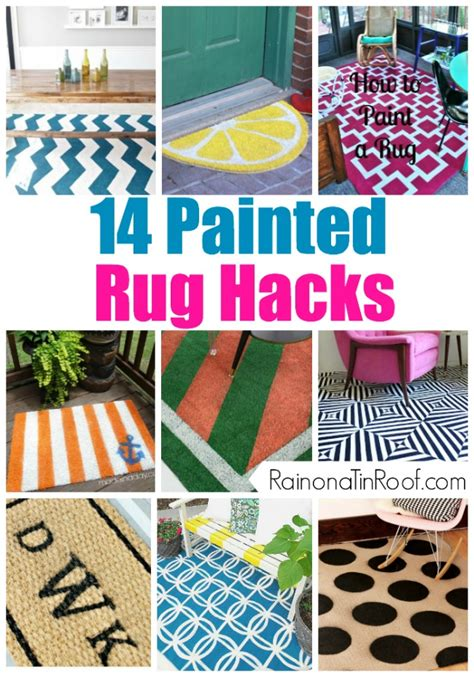 How To Paint An Area Rug Painted Area Rug Roselawnlutheran