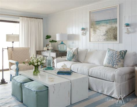 breezy condo living room in cottage style shop the