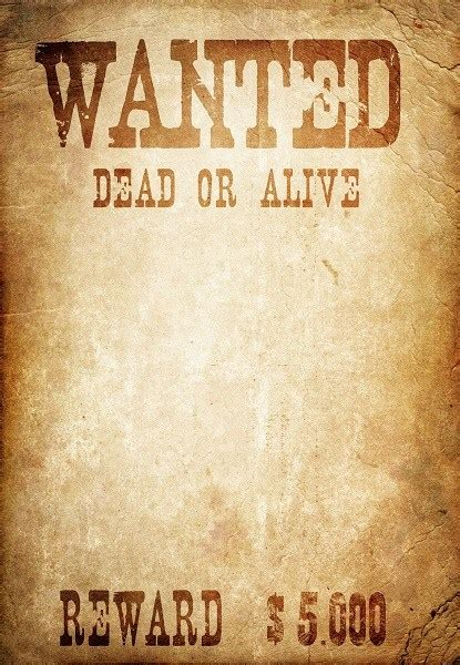 6 wanted poster templates word excel templates