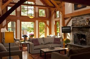 Lake Home Interiors Vermont Lake House Interior Bensonwood Gallery Interiors House And Oak Trim
