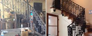 Banister In Spanish Ornamental Wrought Iron Staircase Railing Orange County