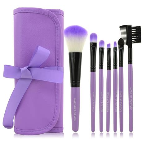 1 Set Kuas Make Up Wardah kuas make up 7 set dengan kulit purple jakartanotebook