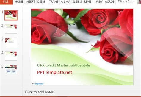 Free Rose Powerpoint Templates Free Funeral Slideshow Template Powerpoint