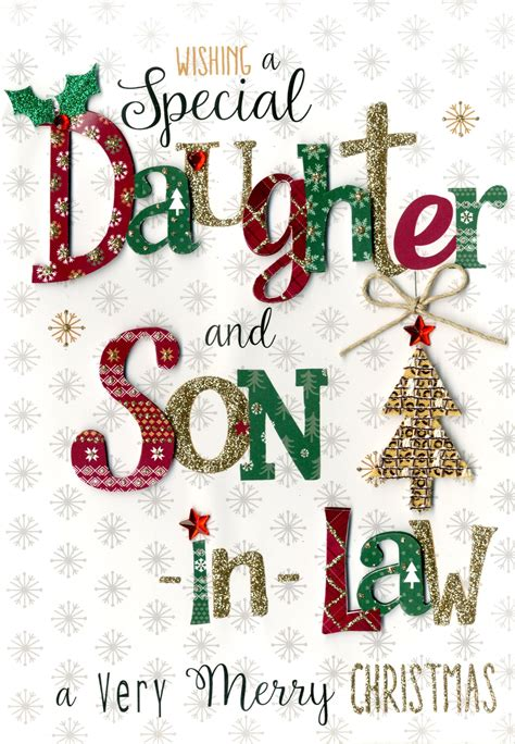 daughter son  law embellished christmas card cards love kates