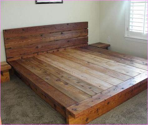 wood platform bed frame king platform bed frames selections homesfeed
