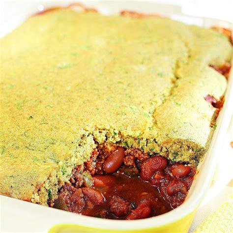 chili casserole chili cornbread casserole recipe eatingwell