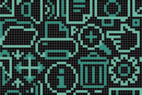 mosaic pattern software turquoise computer icons tile pattern pc digital