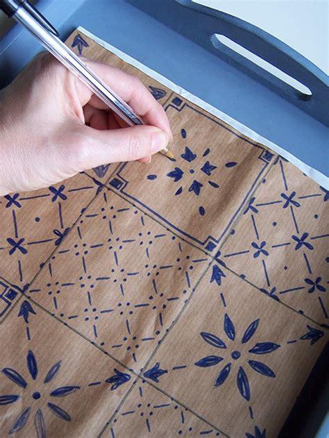 piastrelle disegnate vassoio decor con piastrelle disegnate cose di casa