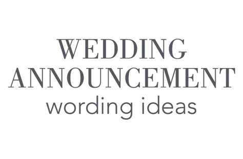 Wedding Announcements Wording by Wedding Announcement Wording Invitations By