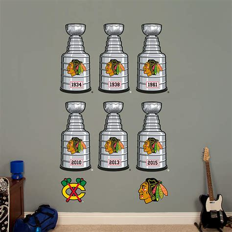 Blackhawks Fathead Giveaway - chicago blackhawks stanley cup collection wall decal shop fathead 174 for chicago