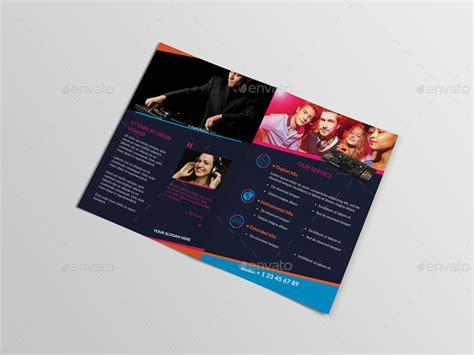 a5 brochure template dj a5 brochure template 02 by wutip2 graphicriver