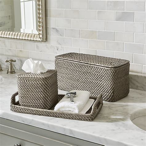 Sedona Grey Bath Accessories Crate And Barrel Gray Bathroom Accessories