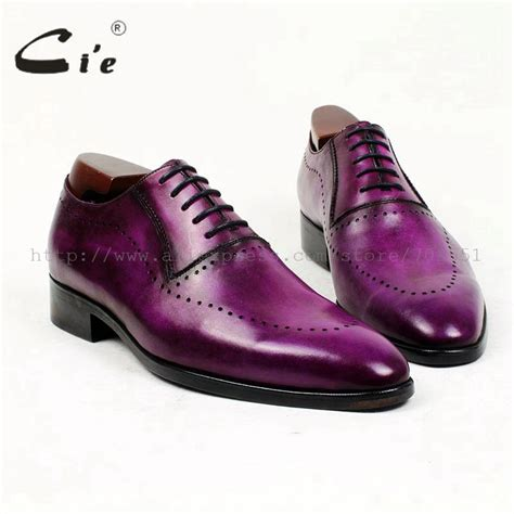 mens purple boots cie toe oxford patina purple narrow shoe last 100