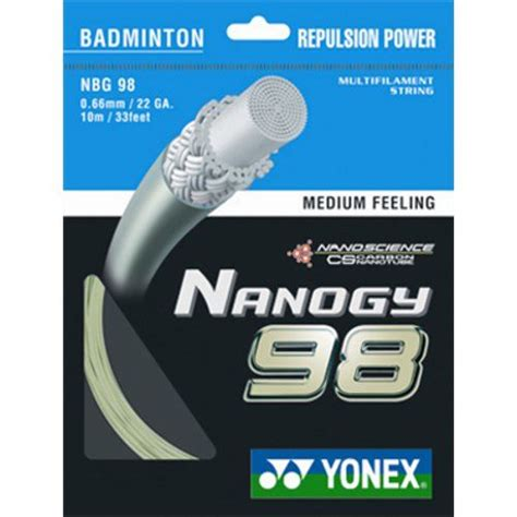 Senar Badminton Bg 66 Sharp Nanogy 98 Bg 65 Power yonex nanogy 98 badminton string 10m set