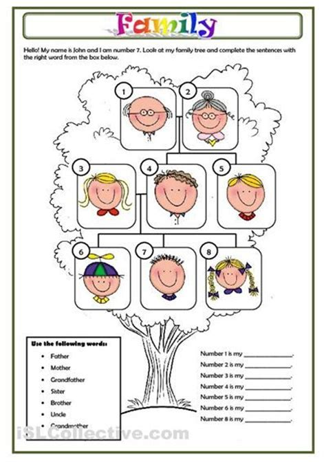 Family Worksheets In by 1000 Ideas About Family Tree Worksheet On