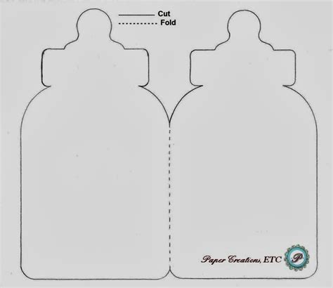 Diy Card Onesie With A Vest Card Template by Paper Creations Etc Baby Bottle Card Free Template